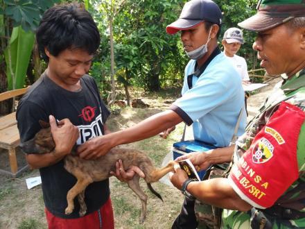 Vaksinasi Tahap II dari BPP Kecamatan Seririt