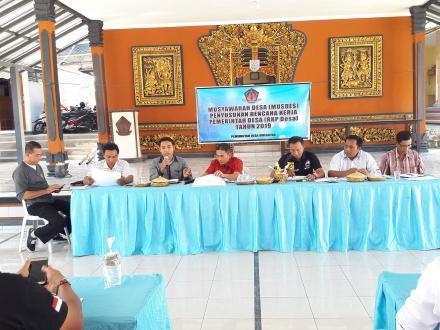 Rapat Musyawarah Desa tentang Penyusunan Rencana Kerja Pemerintah Desa Tahun 2019