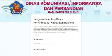 Program Pelatihan Komputer dari Dinas Kominfosandi Kabupaten Buleleng